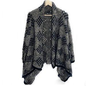 BCBG Max Azria Eyelash Sweater Coat Cardigan Sz M